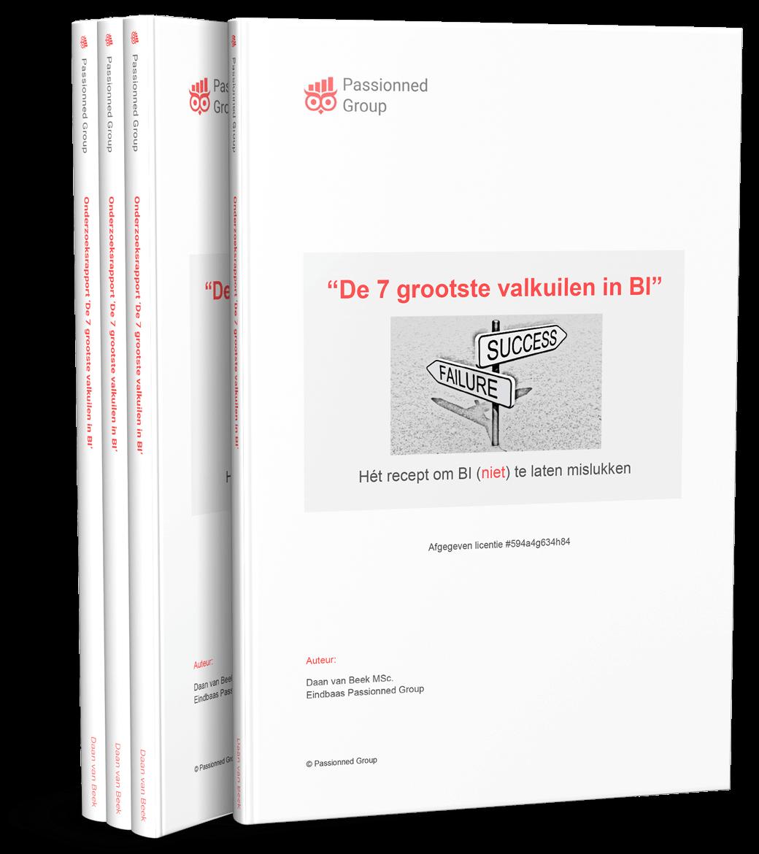 Cover Onderzoeksrapport 'De 7 grootste valkuilen in Business Intelligence'
