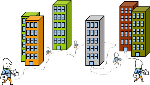 inwoners en bedrijfsleven fungeren dikwijls als postbode van de overheid.