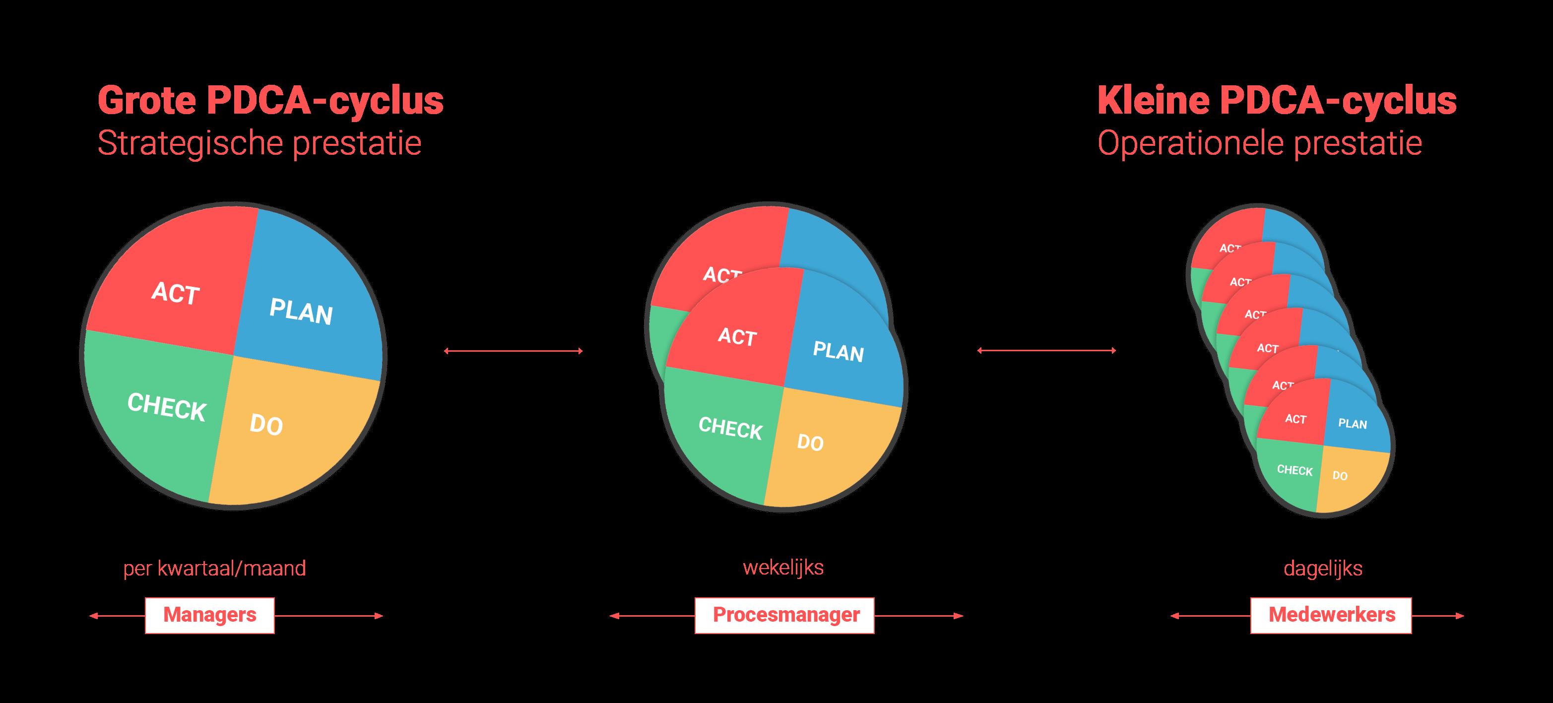 De grote cirkel vertalen naar de organisatie